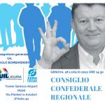 Genova, CCR Liguria il 28 luglio con il segretario generale PierPaolo Bombardieri.